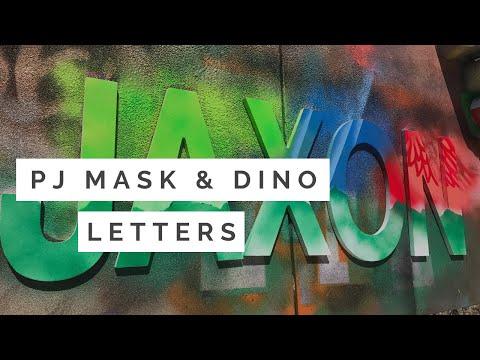 PJ Mask & Dinosaur inspired letters