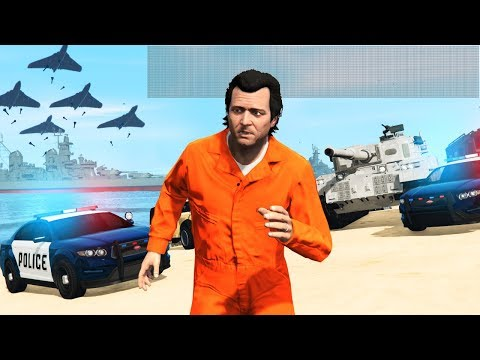 GTA 5 - 7,500 STAR WANTED LEVEL!! (Can We Escape?)