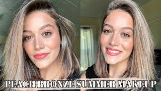 Peach Bronze Summer Makeup Tutorial ✨
