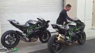 Kawasaki H2 & H2R Sound Comparison