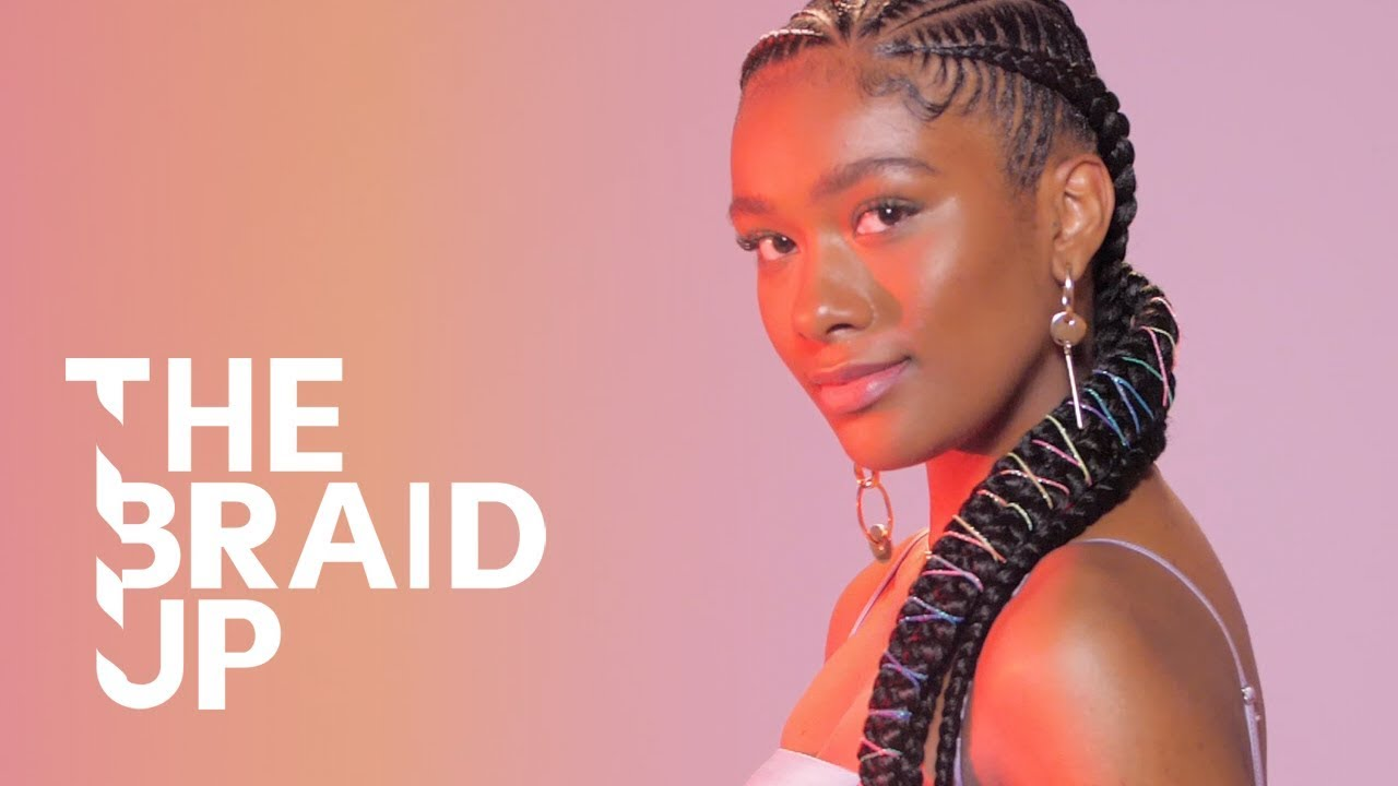 Rainbow Stitch Braids The Braid Up Cosmopolitan Youtube