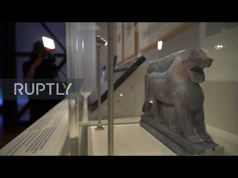 UK: Google 3D Prints Historic 'Lion Of Mosul' Statue Destroyed By IS