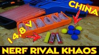 NERF RIVAL KHAOS MXVI 4000 BLASTER: 14,8 VOLT / CHINA BÄLLE / MAG SCHNELLBEFÜLLUNG