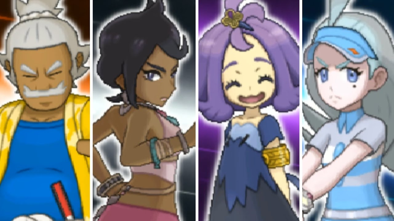 pokémon sun and moon episode 48 elite four youtube