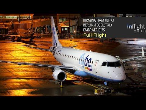 Flybe Full Flight | Birmingham To Berlin-Tegel | Embraer E175
