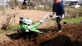 Gasoline Rotary Tiller Cultivator Rotobator 9hp Farm Tractor