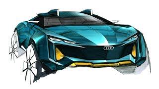 자동차 디자인 스케치(AUDI Quattro Design)