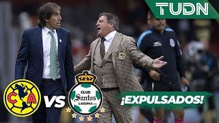 ¡Se hacen de palabras y expulsan a Herrera y Almada!  | América 1 - 2 Santos | Liga MX | TUDN