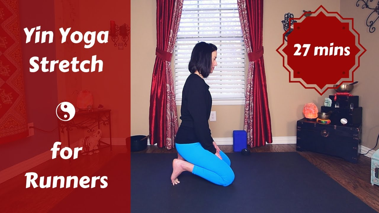 Post Run Yin Yoga for Runners & Athletes   Lower Body Stretch {30 mins}