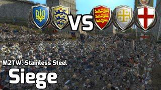 M2TW: Stainless Steel Online Battle #8 (2vs3 Siege) - Genoa Jig
