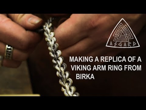 7682c838a49 Hand Crafting Viking Jewellery  Making an Arm Ring from Birka - YouTube
