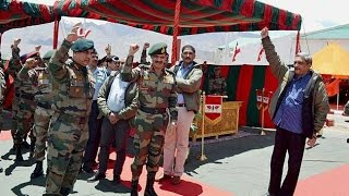 Army Chief Visits J& K Reviews Security Situation Full Footage