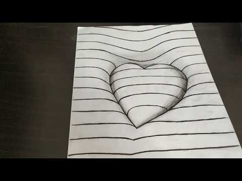 How To Draw 3d Art On Paper Myhiton