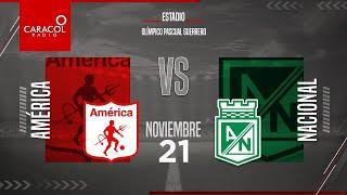 EN VIVO   En el Fenómeno del Fútbol América Vs Atlético Nacional - Cuartos de final/Ida- Liga Betpla