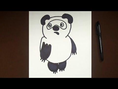 Как нарисовать поэтапно Винни Пуха