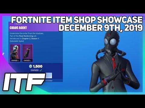 Fortnite Item Shop CHAOS AGENT IS BACK! [December 9th, 2019] (Fortnite Battle Royale)