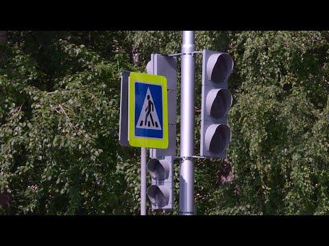 В Верхней Салде на Парковой установили новый светофор