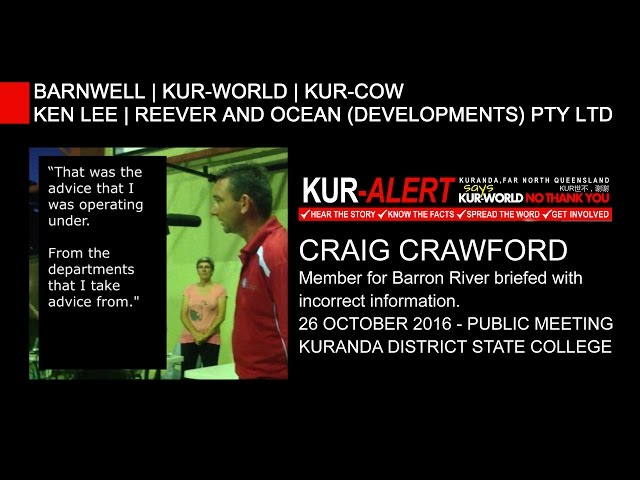 KUR-World, KUR-Cow, BARNWELL: Craig Crawford - Barron River - public record request correction