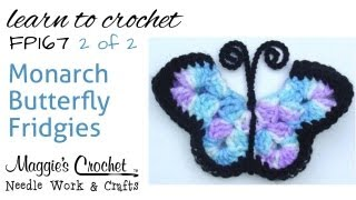 Free Crochet Pattern Fp167 Monarch Butterfly Fridgies - Part 2 Of 2