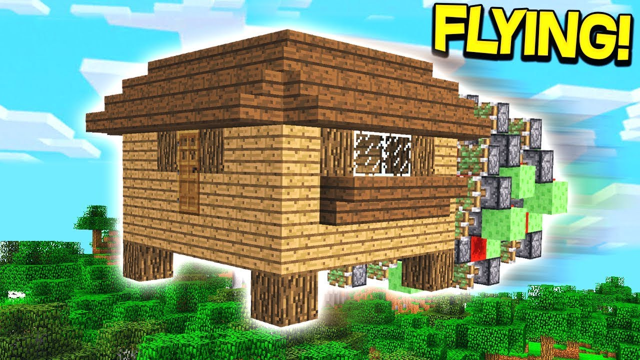 THE BIGGEST FLYING MINECRAFT HOUSE!