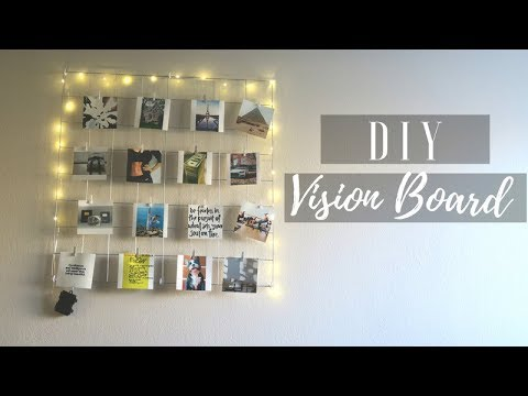DIY Vision Board!  How To Make A Wire Wall Grid / Leticia
