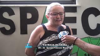 Patricia Oliveira, diretora da Escola Cazuza Bezerra, expressa felicidade com a evolução educacional