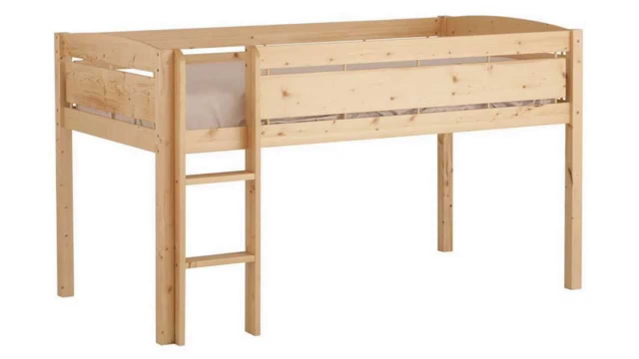 Canwood whistler junior loft bed natural youtube - Canwood whistler ...