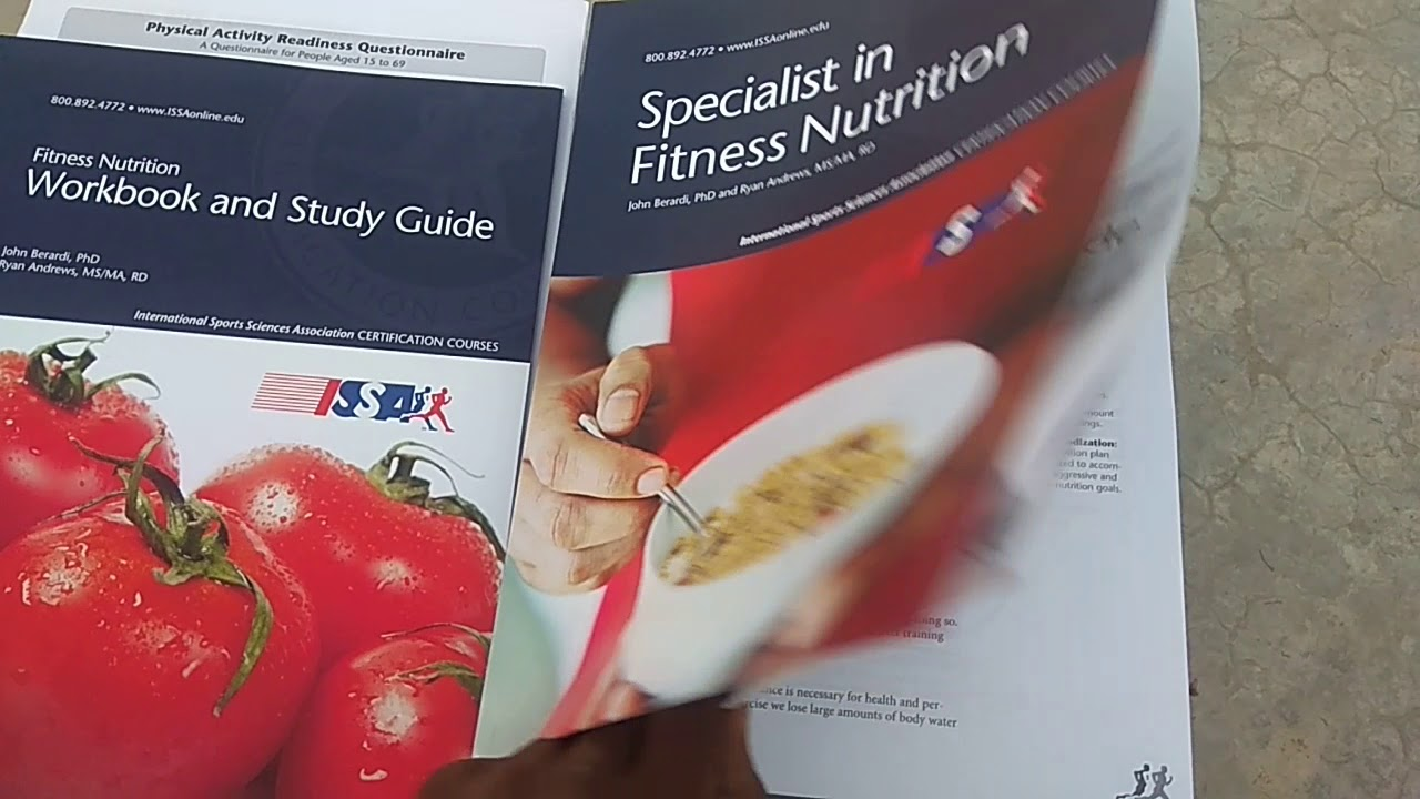 Issa Fitness Nutrition Certification Books Youtube