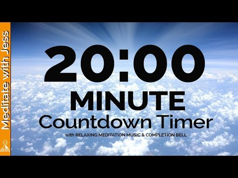 20 Minute MEDITATION Countdown Timer QUIET YOUR MIND With Relaxing Music & Completion Bell