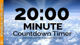 20 Minute MEDITATION Countdown Timer QUIET YOUR MIND with Relaxing Music &amp Completion Bell
