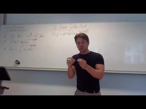 Derivation of the Fermi Golden Rule