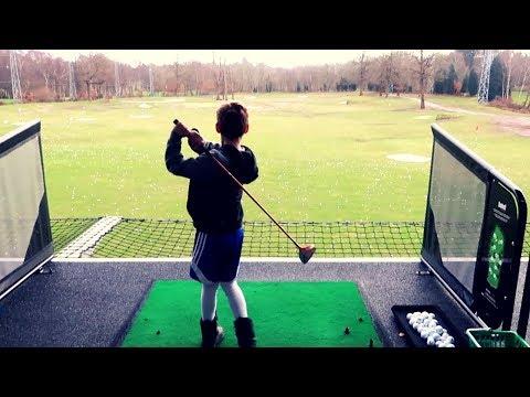 joss-tries-out-his-new-kids-golf-clubs!!!-124-yard-drive!!!