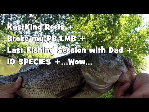 Broke my LMB PB; Caught 10+ Species: ROCKING the KASTKING Reels w/ my Dad! (Pennsauken Township, NJ)