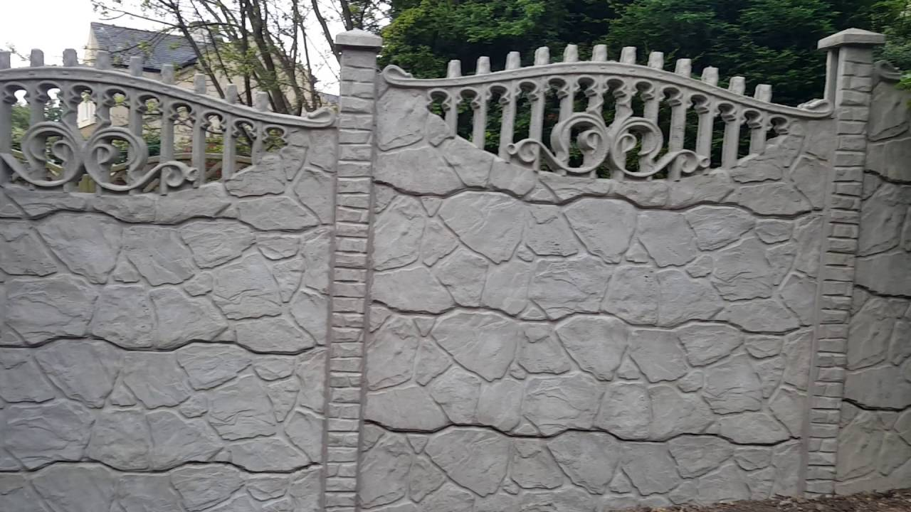 Decorative Concrete Fence Panels S3 Double Youtube