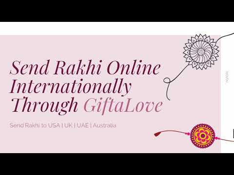 Send Rakhi To USA, UK, Canada, Dubai With GiftaLove.com