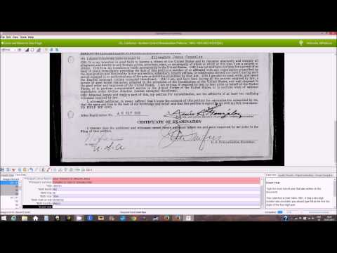 FamilySearch Indexing: California Northern District Petitions for Naturalization