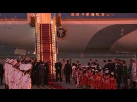President Trump Hanoi Welcome Ceremony In Vietnam For State Banguet eleven/eleven/17