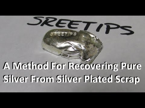 Method For Recovering Silver From Silver Plated Items