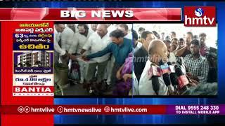 కరీంనగర్ వ్యవసాయ మార్కెట్లో వరి ధాన్యం కొనుగోలు ప్రారంభం   hmtv Telugu News