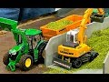 RC EXCAVATOR AND TRACTORS IN 1:32 SCALE! LIEBHERR 900! FENDT! JOHN DEERE! CLAAS AND MORE!