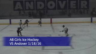 Acton Boxborough Girls Varsity Ice Hockey vs Billerica 1/18/16
