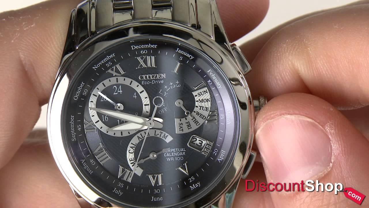 citizen eco drive perpetual calendar bl8000 54l review by rh youtube com Citizen BL8000-54L Leather Citizen BL8000-54L Leather