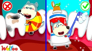 No No, Candy Makes Teeth Got a Boo Boo! - Wolfoo Learns Good Habits for Kids   Wolfoo Channel