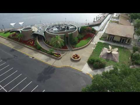 Downtown Jacksonville Landing Riverwalk DJI Inspire 1 Drone Aerial Video