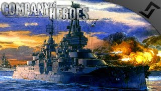 USS Texas Shells Cherbourg - Company of Heroes: Europe at War - Invasion Normandy Mission 9