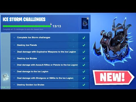 ALL ICE STORM CHALLENGES REVEALED! (Fortnite Free Rewards)