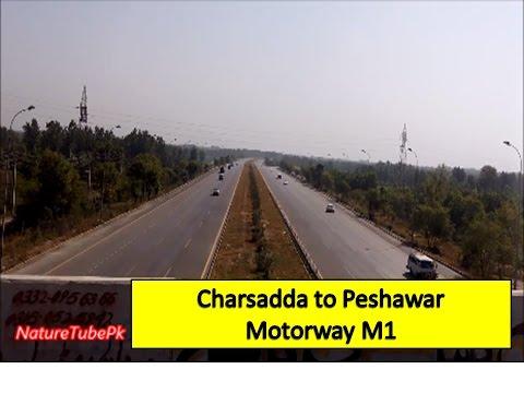 A Drive on   Pakistani  Motorway M1  from Charsadda to Peshawar