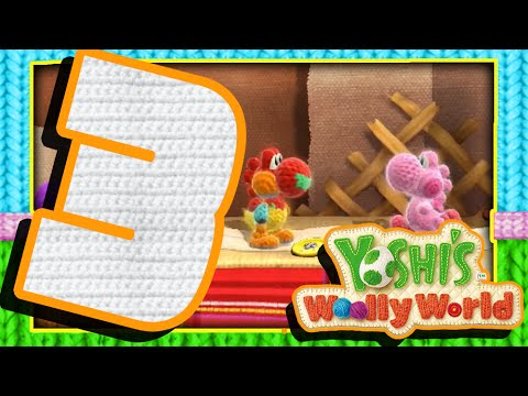 Yoshi's Woolly World - Walkthrough Part 3 Samus & Kirby Co-op