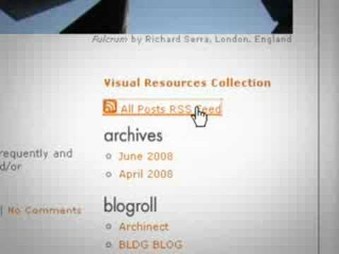 Blog & RSS (UT Austin, SOA Visual Resources Collection)