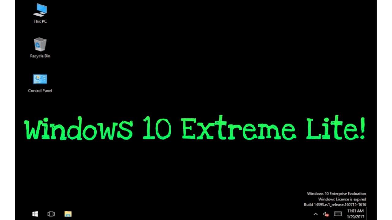 Windows 10 Extreme Lite made by Bob Pony